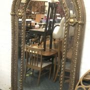 LARGE GOLD SECTION ARCH MIRROR