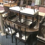 ORIENTAL DINING TABLE & SIX CHAIRS