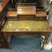 VICTORIAN  LEATHER TOP DESK