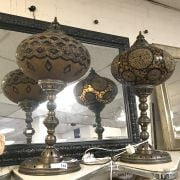 PAIR OF MORROCAN STYLE TABLE LAMPS - 75CM HEIGHT