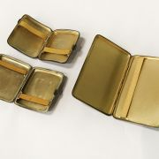 THREE HM SILVER CIGARETTE CASES - 11.4 TROY OZS TOTAL APPROX.