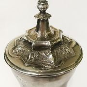 GERMAN SILVER PLATED TROPHY - 33CM HEIGHT