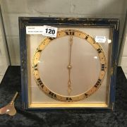 BRONZE ENAMEL MANTLE CLOCK WITH FRENCH MOVEMENT ESCP'T - 23 CMS SQ