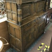 1930'S CARVED SIDEBOARD / CUPBOARD - GOOD CONDITION