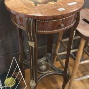 ROUND INLAID OCCASIONAL TABLE