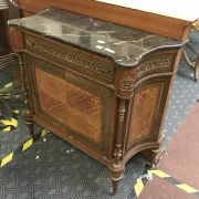 MARBLE TOP GILT CABINET