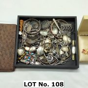 QTY. OF SILVER SPOONS & OTHER ITEMS