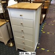 WHITE WELLING CHEST WITH PINE TOP