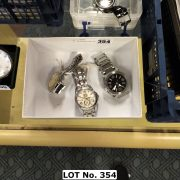 3 STAINLESS STEEL WATCHES