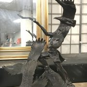 BRONZE FIGURE - NATIVE AMERICAN WITH EAGLES ''SOARING SPIRIT'' SIGNED BUCK ...