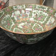 LARGE CHINESE BOWL - A.F - PROFESSIONAL REPAIR TO BASE