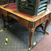 FRENCH LEATHER TOP DESK - DRAWER MISSING