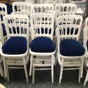 18 WHITE STACKING CHAIRS