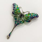 STERLING SILVER SAPPHIRE DRAGONFLY BROOCH
