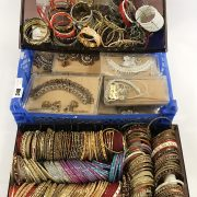 LARGE COLLECTION OF COSTUME JEWELLERY - BANGLES / NECKLACES