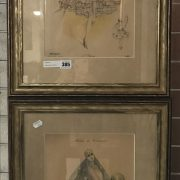 PAIR FRENCH PRINTS