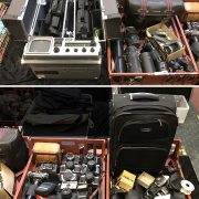 LARGE QTY CAMERAS/ LENSES INCL. 2 EARLY PROFESSIONAL VIDEO CAMERAS