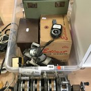 EARLY CINE PROJECTOR & OTHER FILM EDITING EQUIPMENT