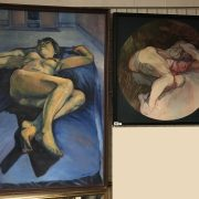 2 SIGNED OIL PAINTINGS - ONE BY JULIE CROFT - 85 X 125 CMS AND ONE BY THOML...