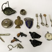 HM SILVER SCOTTISH SHOOTING BADGE WITH OTHER ITEMS