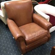 LEATHER BACK CHAIR