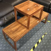 ROSEWOOD COFFEE TABLE & LAMP TABLE