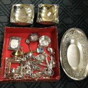COLLECTION POF SILVER ITEMS
