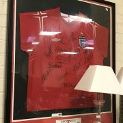FRAMED & SIGNED ENGLAND FOOTBALL SHIRT INCL. JOHN TERRY ET AL WITH AUTHENTI...