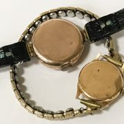 9CT GOLD CASED LADIES WRISTWATCH WITH 18CT GOLD CASED LADIES WATCH A/F
