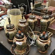 QTY ORIENTAL LAMPS & GINGER JARS