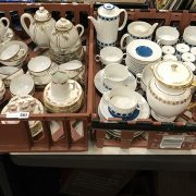TWO TRAYS OF CHINA