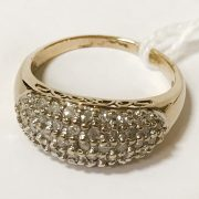 9CT GOLD DIAMOND CLUSTER RING - SIZE N