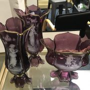 3 MARY GREGORY VASES A/F ON 1 REPAIRED