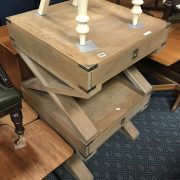 PAIR OF SIDE TABLES WITH DRAWER