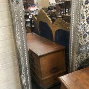 LARGE SILVER SWEPT BEVAL MIRROR