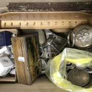 BOX OF INTERESTING ITEMS - SOME SILVER