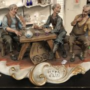 CAPO DI MONTE GROUP CARD PLAYERS - 22 X 32 CMS