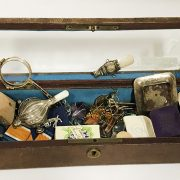 EARLY GLOVE BOX & INTERESTING ITEMS