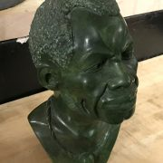 SIGNED AFRICAN HEAD /BUST BY C. UKAMA - 23CMS (H)