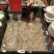 QUANTITY OF GLASS AND CRYSTAL INCLUDING WATERFORD