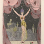 GEORGES BARBIER (1882-1932) BALLETS RUSSES HAND COLOURED ETCHING ON WOVE CA.1912 ARTIST PROOF