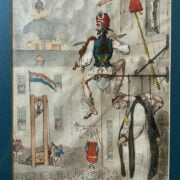 JAMES GILLRAY HAND COLOURED PRINT / ETCHING - THE ZENITH OF FRENCH GLORY