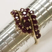9CT GOLD & RUBY RING