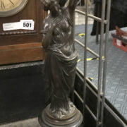 EARLY BRONZE FIGURAL TABLE LAMP BASE