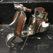 CHROME & LEATHER SCOOTER