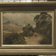 C.F WATSON SIGNED OIL ON CANVAS OF COUNTRY SCENE - 40CM X 60CM - GOOD ALL ROUND CONDITION