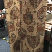 PAIR OF GOTHIC TAB CURTAINS 56 INCHES X 80 INCHES  EACH
