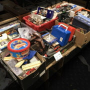 7 BOXES OF TOYS ETC