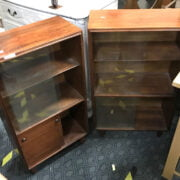 TWO SMALL TEAK BOOKCASES