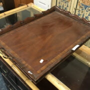 HAND MADE INLAID TRAY - GOOD CONDITION